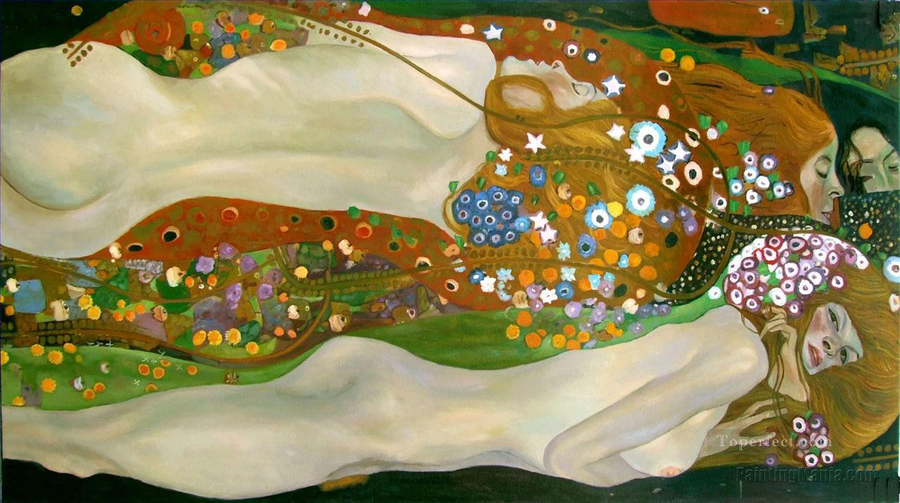 Symbolism nude Gustav Klimt Oil Paintings